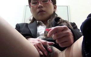Young woman fondles furry snatch