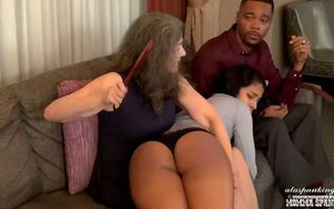 Cleo is spanked, paddled and
