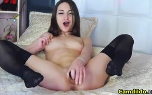 Super-fucking-hot damsel having joy..