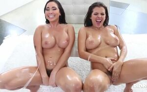 Lubricated girls, Keisha Grey and..