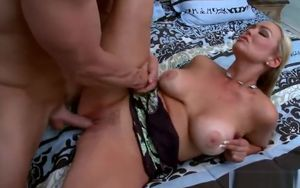 Winsome fair-haired mommy Abbey Brooks..