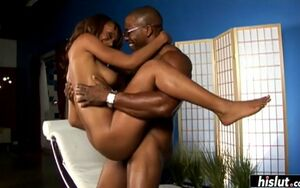 Dark-hued fellow makes aleia tyler glad