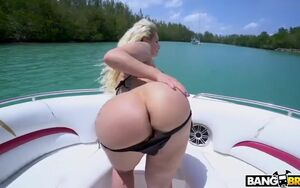 Doing assfuck in a naughty boat rail
